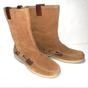 Sperry Sandfish Barley Suede Moc Style Boots NWOT